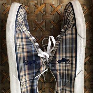 Mens POLO RALPH LAUREN Madras Sneaker 11D